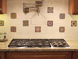 Midwest Kitchen With Unique Accents - Backsplash Design