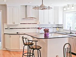 Transitional Kitchen With A Pop Of Color