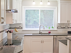 Transitional Kitchen With A Pop Of Color Design