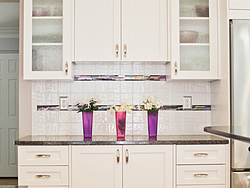 Transitional Kitchen With A Pop Of Color - Cabinet Design
