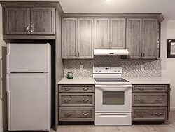 Gray And White Gallery Kitchen - Cabinet Design