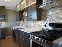 Cool Contemporary Gallery Kitchen - Stove