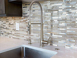 Cool Contemporary Gallery Kitchen - Faucet