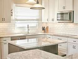 Light Transitional Kitchen - Cabinets