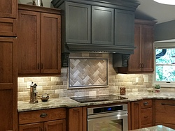 Two-Tone Kitchen - Tile Backsplash