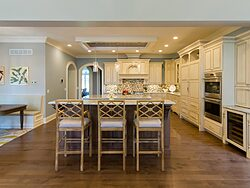 Gray and White Kitchen Remodeling