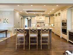 Gray and White Kitchen - Kitchen Seating
