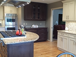 Transitional Kitchen With Island Cooktop Design