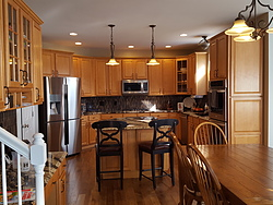 White Kitchen With Granite Countertops - Remodeling: Before