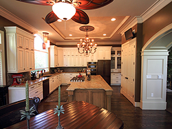 Large Kitchen with Functional Island - From Dining Room