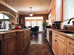 Large Kitchen with Functional Island - Two-Tone Cabinets