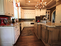 Large Kitchen with Functional Island - Kitchen Cabinets