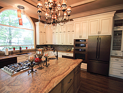 Large Kitchen with Functional Island - Island Countertops