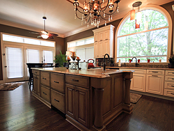 Large Kitchen with Functional Island - Wood Floors