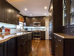 Henry Kitchen Design Team - Espresso Kitchen Cabinets