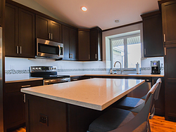 Contemporary Kitchen With Shaker Cabinets - Center Island