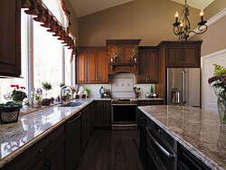 Traditional Kitchen With Center Island