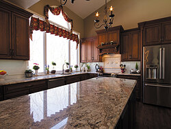 Traditional Kitchen With Center Island - Countertops