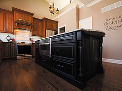 Traditional Kitchen With Center Island - Storage Cabinets