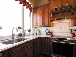 Traditional Kitchen With Center Island - Natural Light