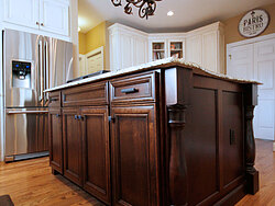 Transitional Kitchen With Accent Island - Island