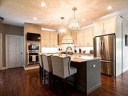 Open Kitchen With Accent Lighting