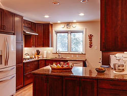 Contemporary Cherry Kitchen Remodeling