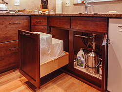 Contemporary Cherry Kitchen - Cabinet Storage