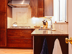 Contemporary Cherry Kitchen - Countertop