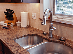 Contemporary Cherry Kitchen - Faucet