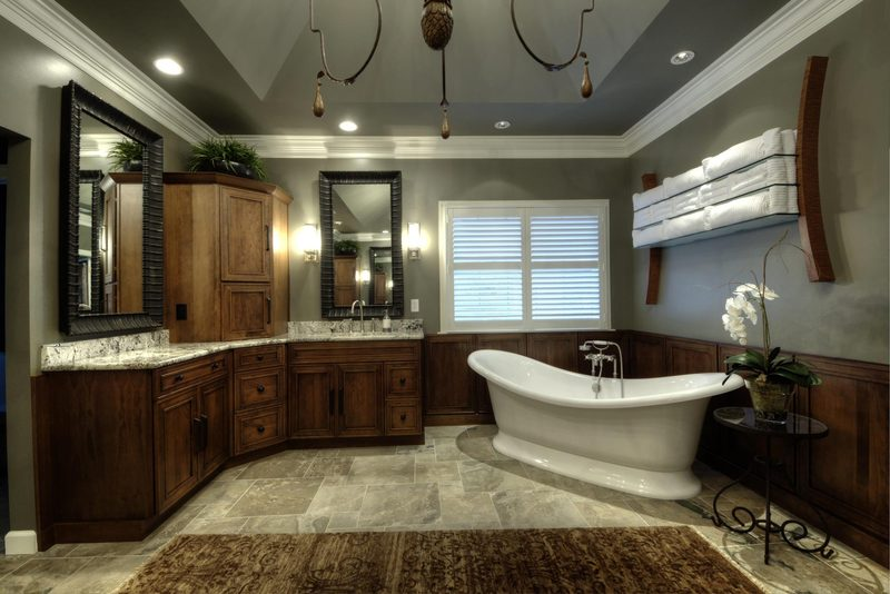 Henry | Bathroom Design | Large Bathroom Chandelier