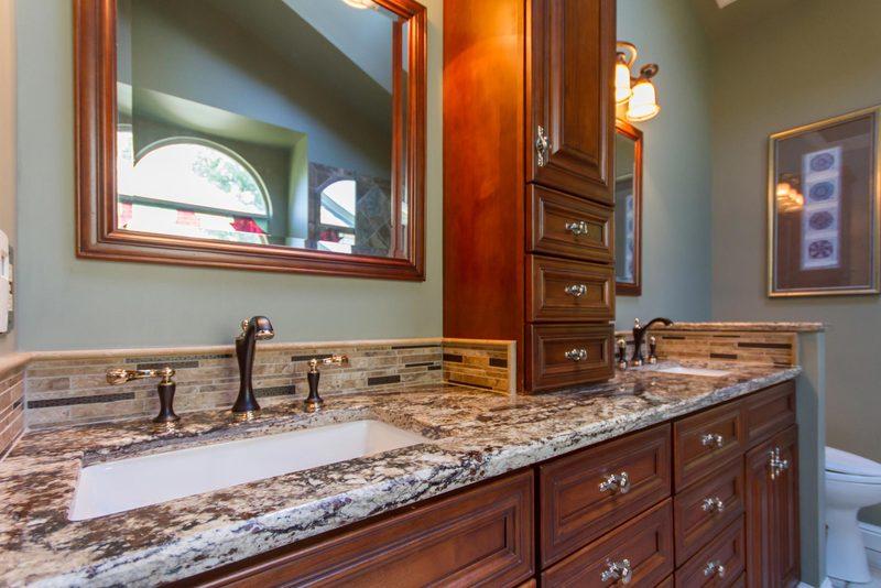 Stained Glass Master Bathroom   Bathroom Sink Design