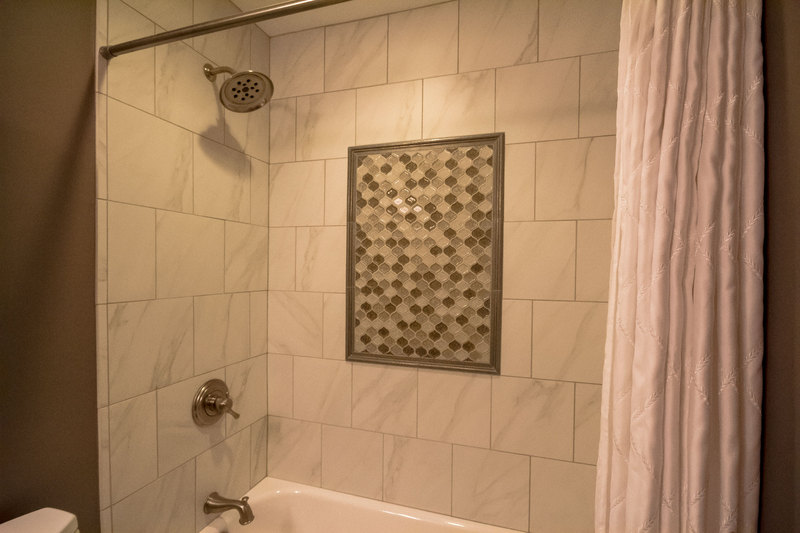Small Bathroom With Decorative Tile   Shower Tile Design