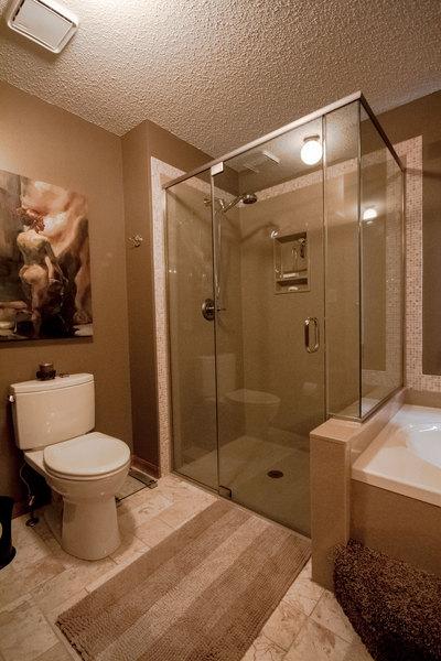 Henry | Bathroom Design | Warm Bathroom & Glass Shower