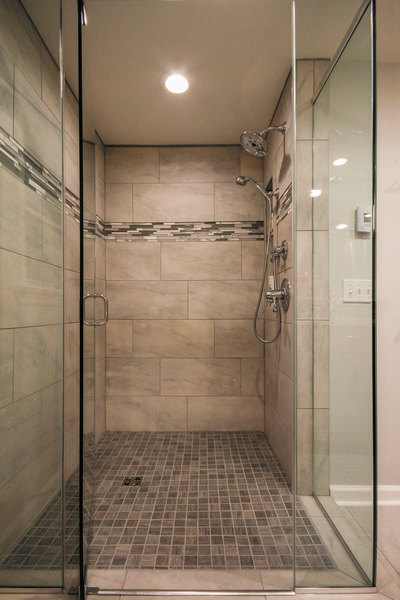Trendy Neutral Bathroom   Shower Details