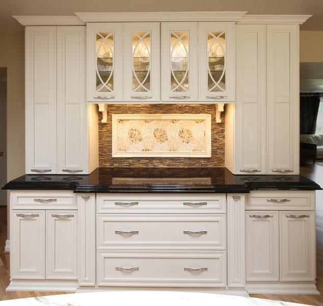 Marble Kitchen Island: White Kitchen Design With Marble Island