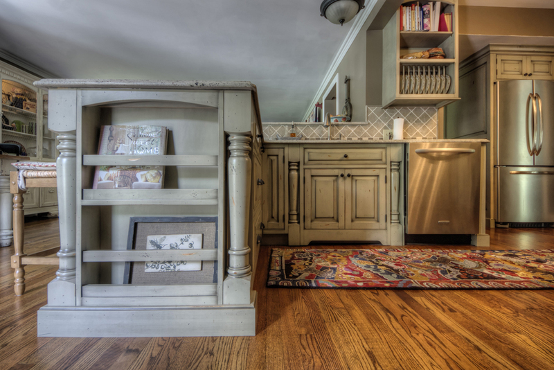 Farmhouse Kitchen Design   Peninsula Storage