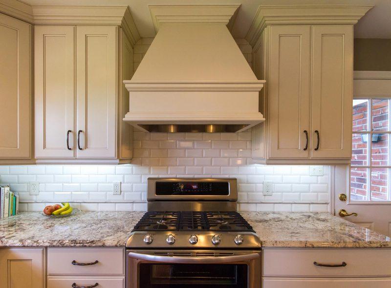 Full Length Kitchen Cabinets   Hood